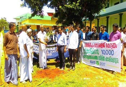 Planting saplings on World Environment day