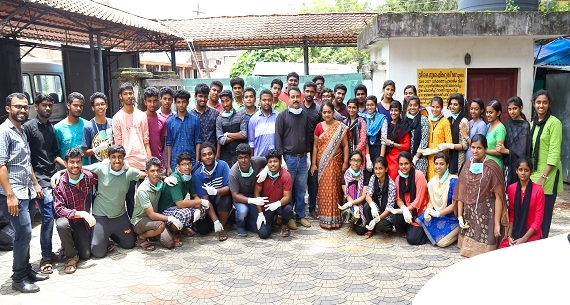 Cleaning drive program by the students of NSS wing of GIAL
